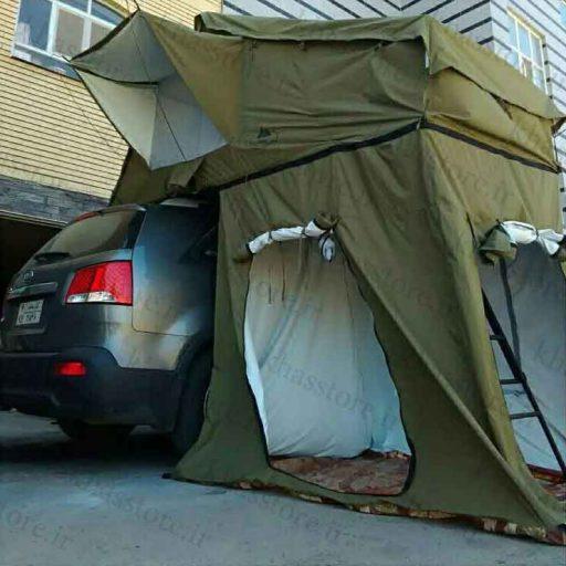 چادر سقفی (حیاط دار و اتاقک دار)